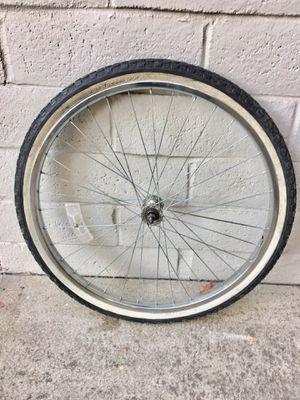 "26"" Chrome Cruiser Bike Rim & tire HJC 26x1.75 for Sale in Los Altos Hills, CA"