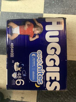 Huggies Overnight / Overnites size 6 (48ct) for Sale in Houston, TX