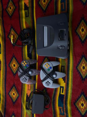 Nintendo 64 Console w/ 2 controllers for Sale in Fairfax, VA