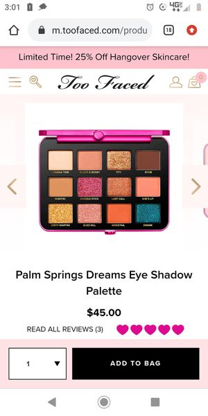 Free Beauty Blender w/purchase of 3 or more palettes for Sale in Tempe, AZ