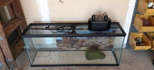 Reptile tank 50 gal with accessories for Sale in Caledonia, MI