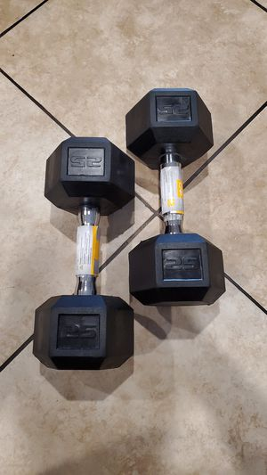 Cap dumbbell 25 lb for Sale in Downey, CA