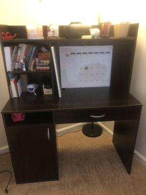 Used dark brown desk for Sale in Laurel, MD