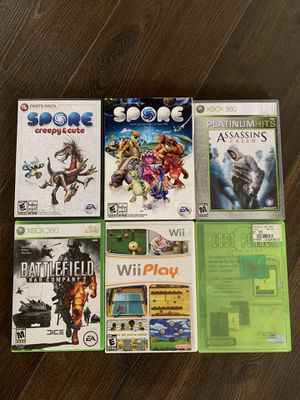 Games Xbox 360/Pc/Wii 1 game for $6 or all for $30 for Sale in Key Largo, FL