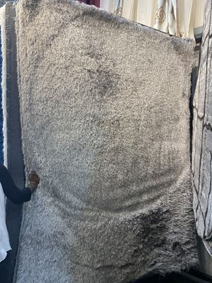 5x7 silver grey soft shaggy rug fuzzy brand new carpet for Sale in Los Angeles, CA