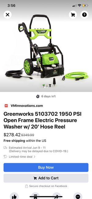 Green work's pressure washer for Sale in Penn Hills, PA