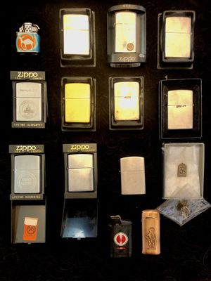 Assorted Flip and Zippo lighters for Sale in San Diego, CA