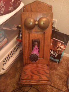 Antique old wall phone