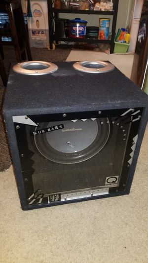 """Rockford fosgate 12"""" p2 sub w/ Q logic box for Sale in San Diego, CA"""
