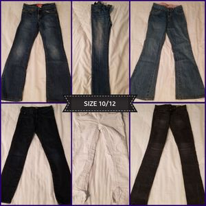X6 Pairs of Girl Jeans Size 10/12 (Like New) for Sale in Norco, CA
