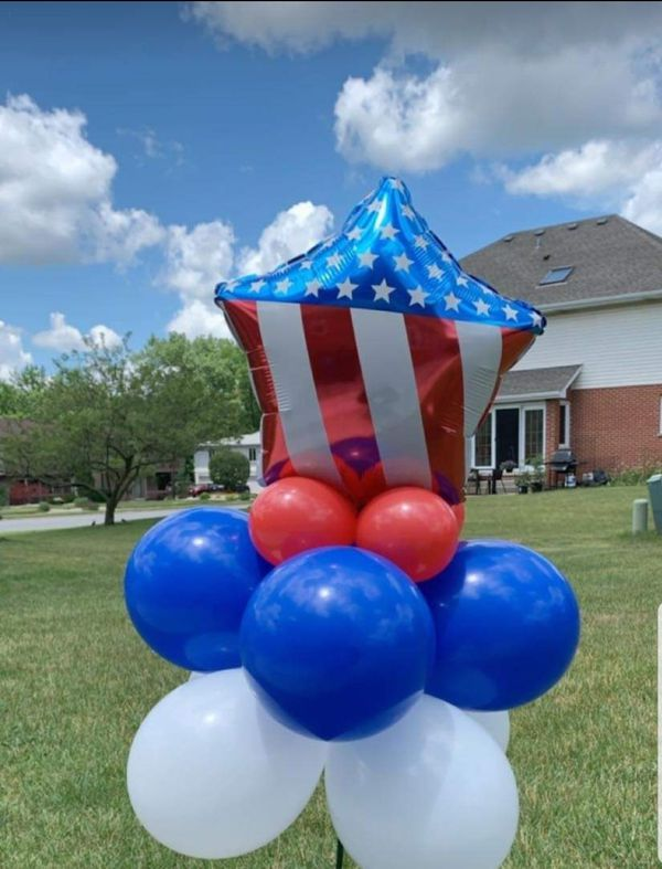 4th of July - Independence Day Balloon Arrangement
