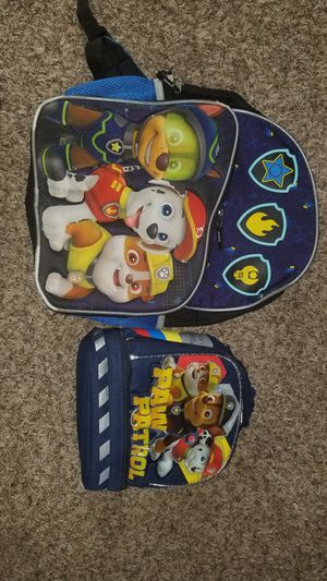 PAW PATROL BOOK BAG AND LUNCH BOX/ TEENAGE MUTAL NINJA TURTLE BOOKBAG SET AS WELL for Sale in Virginia Beach, VA