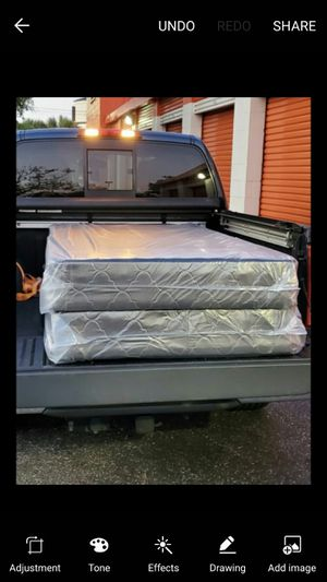 King size box spring new can deliver for Sale in Tampa, FL