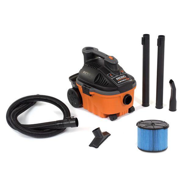 Rigid power tool shop vac vacuum w/ silencer