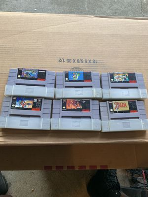 7 super Nintendo games for Sale in Acworth, GA