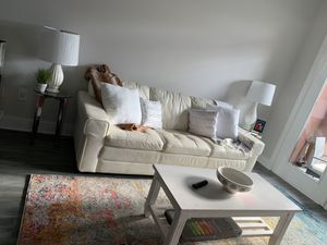 White leather couch for Sale in Dunwoody, GA