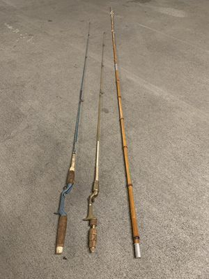Fishing rods take all 3 for Sale in Charlotte, NC