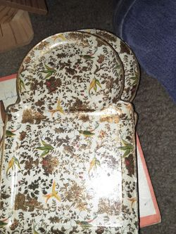 4 1950s Viking Paper Mache Snack Trays for Sale in Waycross,  GA