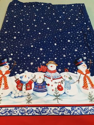 "3-1/4 YARDS COTTON FABRIC 56"" WIDE. "" WINTER FAMILY, R.E.D. INTERNATIONAL TEXTILES. for Sale in Milford, OH"