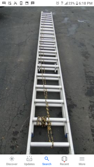40' extension ladder aluminum for Sale in Winter Hill, MA