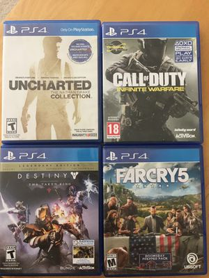 Ps4 games up to trade/sale for Sale in Cupertino, CA