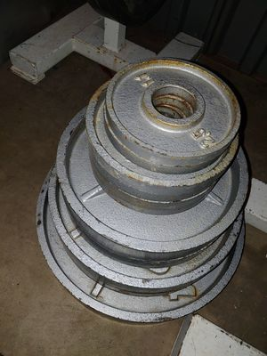 235 lbs olympic weights deep dish for Sale in Phoenix, AZ