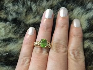 Gorgeous heavy 14k peridot ring for Sale in Havertown, PA