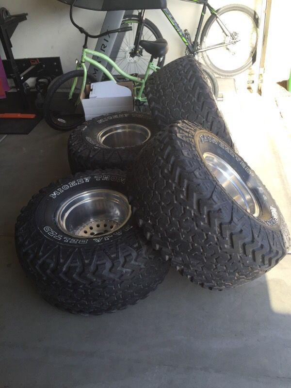 15x12 Wheels W 35x17 50 Lt 15 Mickey Thompson Baja Belted