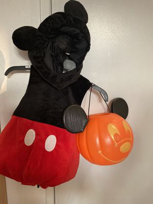 Toddler's Disney Mickey Mouse Costume with Bucket for Sale in Rancho Cucamonga, CA