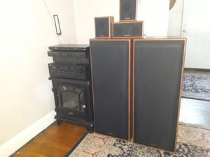 8 Piece Home Entertainment System, Technics, Onkyo for Sale in Cleveland, OH