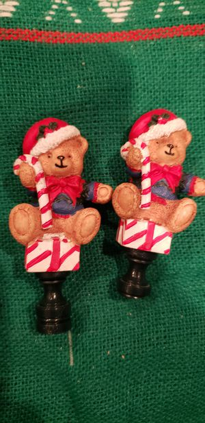 Christmas Teddy Bear lamp toppers for Sale in Munster, IN