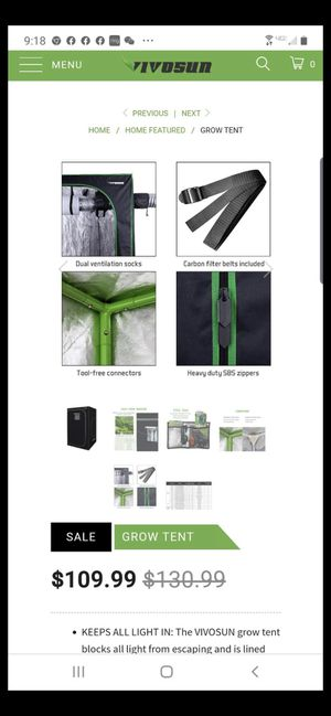 Grow tent 4x4 black for Sale in Diamond Bar, CA