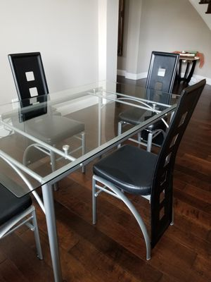 Modern Dining Table Set - Table + 4 chairs for Sale in McKinney, TX