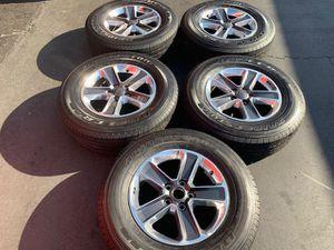 "(5) 18"" Jeep Rubicon JL Takeoffs + 255/70R18 Bridgestone A/T - $625 for Sale in Santa Ana, CA"