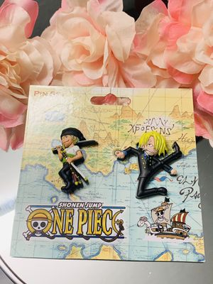 Zoro Sanji One Piece Rubber Anime Pin for Sale in Hyattsville, MD