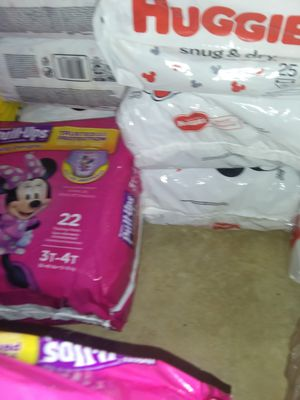 Huggies 3t 4t pull ups 2t 4t also for Sale in TEMPLE TERR, FL