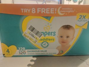 PAMPERS SWADDLERS Size 4-128 count and 66 count for Sale in San Diego, CA
