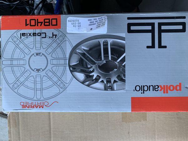 Polkaudio db401 dual speaker silver new in box