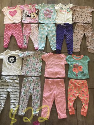 Pajamas set baby girl 12 months 22 set(44 pieces) $45 for Sale in Queen Creek, AZ