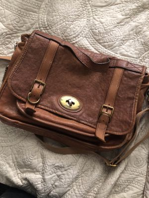 Fossil leather messenger bag for Sale in Chula Vista, CA