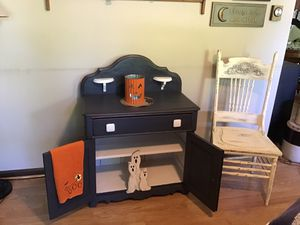 Old Wash Stand AND Old Chair for Sale in Smithsburg, MD