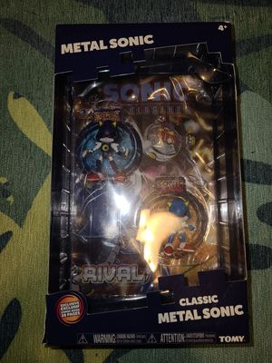 Metal sonic the hedgehog classic modern comic book pack TOMY figure toy nib for Sale in Blythewood, SC