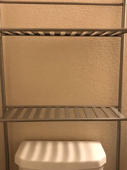 Toilet storage shelf rack - your toilet paper haul in arms reach for Sale in Kirkland,  WA