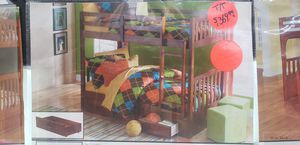 Twin bunk bed mattress sold separately firm price for Sale in Orlando, FL