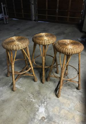 3 Wicker Bar Stools for Sale in Brinklow, MD