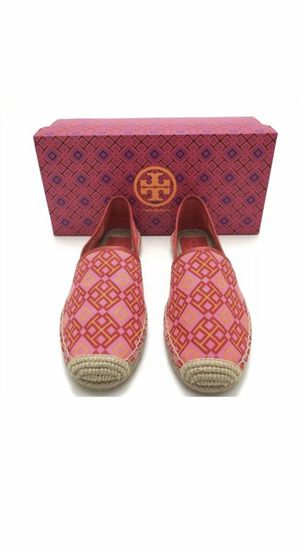 Tory Burch Honeysuckle Red Volcano Size 9 espadrilles for Sale in Huntington Beach, CA