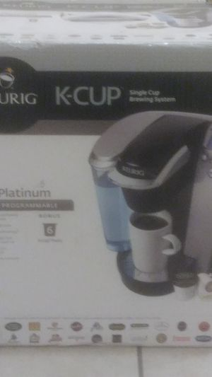 Keurig K-Cup single cup Brewing System k70 Platinum fully programmable for Sale in Manteca, CA