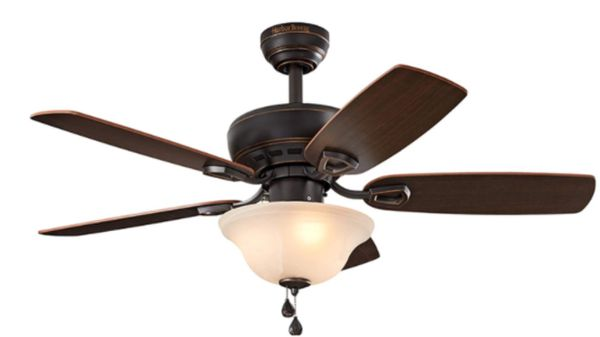Disassembled Harbor View Ceiling Fan with Light