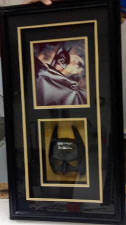 Used, Val Kilmer signed autographed framed mask Batman Forever BAS Beckett coa for Sale for sale  Menifee, CA