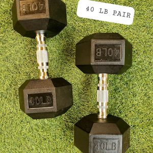 Azusa. BRAND NEW. 40lb dumbbells. 40lb weights. 40 lb for Sale in Alhambra, CA